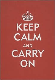 "Red Keep Calm and Carry On Bound Lined Journal (5""x7"") by Peter Pauper Press Incorporated: Product Image"