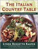 Italian Country Table by Lynne Rossetto Kasper: Book Cover