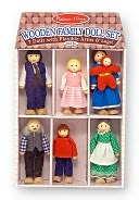 Wooden Family Doll Set by Melissa & Doug: Product Image