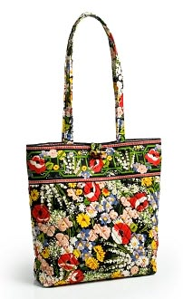 Vera Bradley Poppy Fields Fabric Book Tote