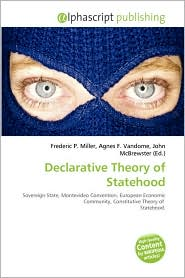 BARNES & NOBLE | Declarative Theory of Statehood by Frederic P ...