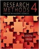 Research Methods for the Behavioral Sciences by Frederick J Gravetter: Book Cover