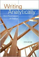 Writing Analytically by David Rosenwasser: Book Cover