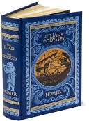 The Iliad and The Odyssey (Barnes &amp; Noble Leatherbound Classics) by Homer: Book Cover