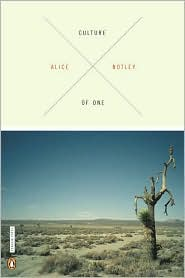 Culture of One by Alice Notley: Book Cover