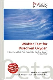 BARNES & NOBLE | Winkler Test for Dissolved Oxygen by Lambert M ...
