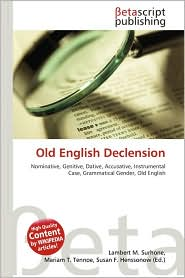 BARNES & NOBLE | Old English Declension by Lambert M. Surhone ...