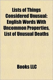 BARNES & NOBLE | Lists of Things Considered Unusual: English Words ...