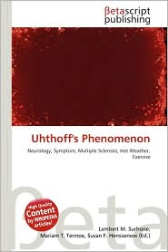BARNES &amp; NOBLE | Uhthoff&#39;s Phenomenon by Lambert M. Surhone ...