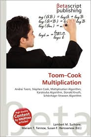 BARNES & NOBLE | Toom-Cook Multiplication by Lambert M. Surhone ...