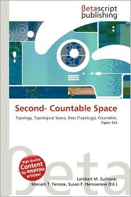 BARNES &amp; NOBLE | Second- Countable Space by Lambert M. Surhone ...