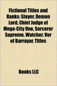BARNES & NOBLE | Fictional Titles and Ranks: Slayer, Demon Lord ...