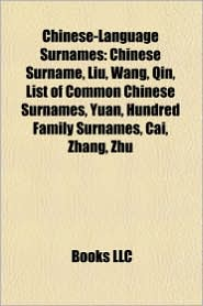 List Of Common Chinese Surnames | RM.