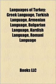 BARNES & NOBLE | Languages of Turkey: Greek Language, Turkish ...