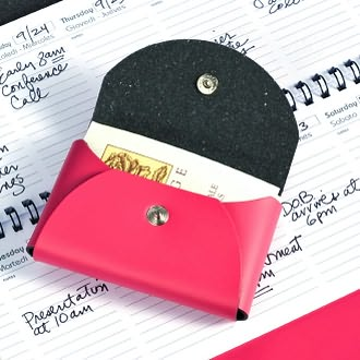 Small Business Card Holder Fuchsia