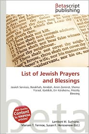 BARNES & NOBLE | List Of Jewish Prayers And Blessings by Lambert M ...