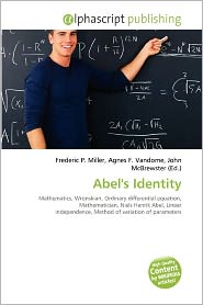 BARNES & NOBLE | Abel's Identity by Frederic P. Miller | Paperback