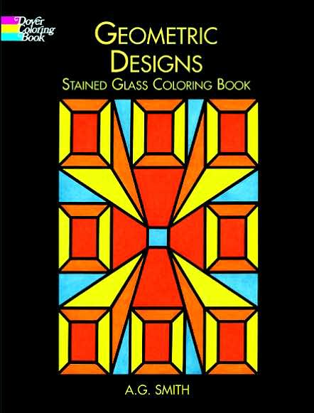 geometric designs for coloring. Geometric Designs Stained Glass Coloring Book