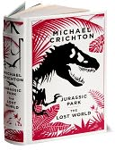 Jurassic Park/The Lost World (Barnes & Noble Leatherbound Classics) by Michael Crichton: Book Cover