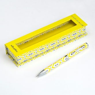 Jonathan Adler Aztec Diamond Print Ink Pen