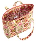 "Vera Bradley Folkloric Fabric Tote (11 ¾"" x 13 ½"" x 4"" ) by Vera Bradley for Barnes & Noble: Product Image"