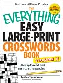 The Everything Easy Large-Print Crosswords Book, Volume II by Charles Timmerman: Book Cover