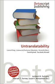 Untranslatability Overview | RM.