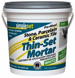 Custom Building Products 1 Gallon White Pre-Mixed Tile & Stone Thin-Set Mortar - Pack of 2