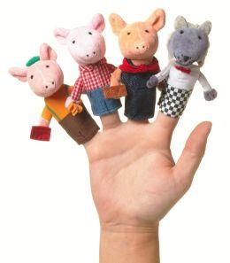 3 Little Pigs Finger Puppet Set