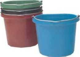 Fortex Industries Flat Back Bucket Dark Green 20 Quart - FB-120