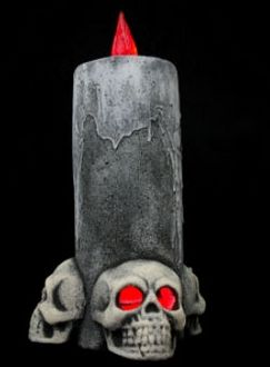 Buckys Boneyard AM636 13 in. 3-Skull Candle- Pack of 2