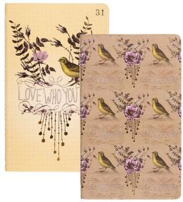 Love Who You Are Floral Sketch & Scribble Notebook Set 8