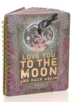 Moon and Back Spiral Notebook 7