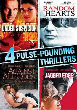 4 Pulse-Pounding Thrillers: under Suspicion/Random Hearts/against All Odds/Jagged Edge