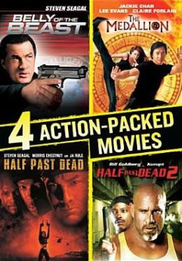 4 Action-Packed Movies Collection: Belly of the Beast/Half Past Dead/Half Past Dead 2/the Medall