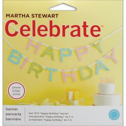 Celebrate Decor Glittered Garland 10'/Pkg-Happy Birthday