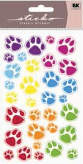 Sparkler Classic Stickers-Animal Tracks