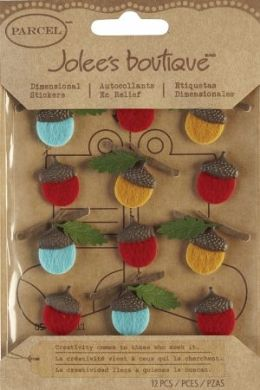 Jolees 121331 Jolees Boutique Christmas Stickers-Felt Acorns - Pack of 3
