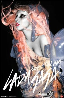 Lady Gaga Orange Hair - Poster