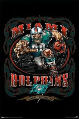 Dolphins logo - Running Back 09 - Poster