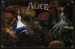 Alice in Wonderland - Mushroom Garden - Poster