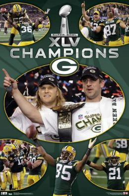 Super Bowl XLV Champions - Celebration - Green Bay Packer - Poster