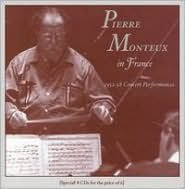 Pierre Monteux in France (1952-58 Concert Performances) [Box Set]