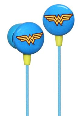 DC Comics Licensed Wonder Woman Icon Printed Earbuds