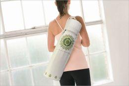 Yoga Mat Bag: Mosaic Wht/Grn