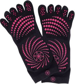 All Grip Yoga Socks - S/M Pink Dots
