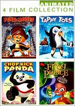Animated 4 Film Collection: Puss in Boots/Tappy Toes/Chop Kick Panda/the Frog Prince