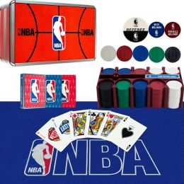 NBA 200 Chip Poker Set with Collector's Tin