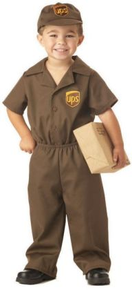 The UPS Guy Toddler Costume: Size 3-4