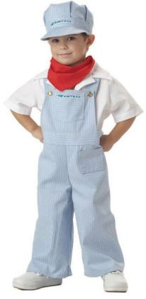 Amtrak Train Engineer Toddler Costume: Size 3-4